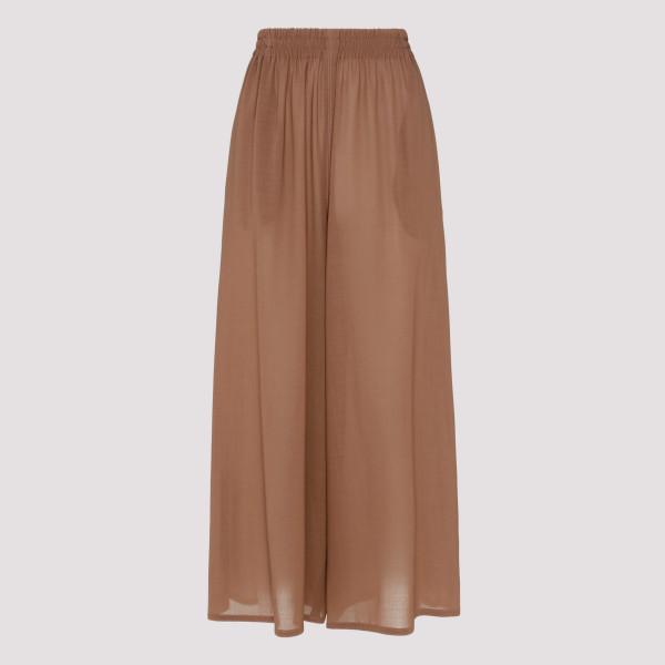 Brown silk pants