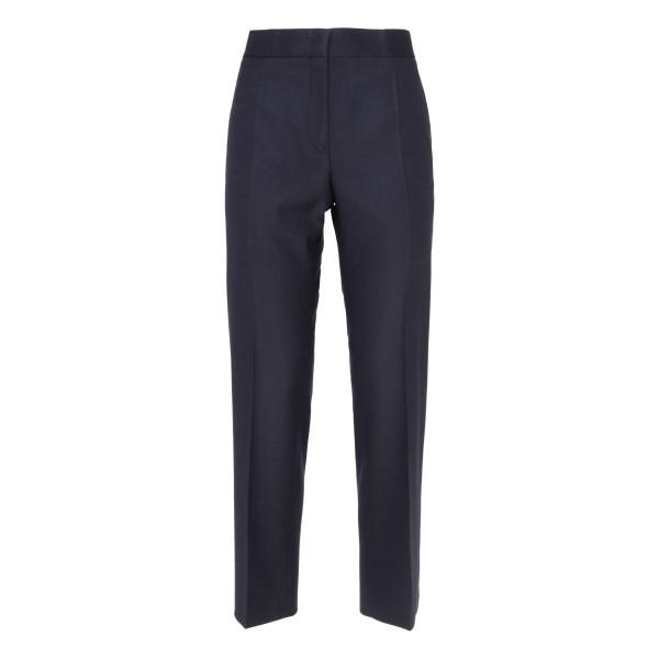 Navy wool tailored pants