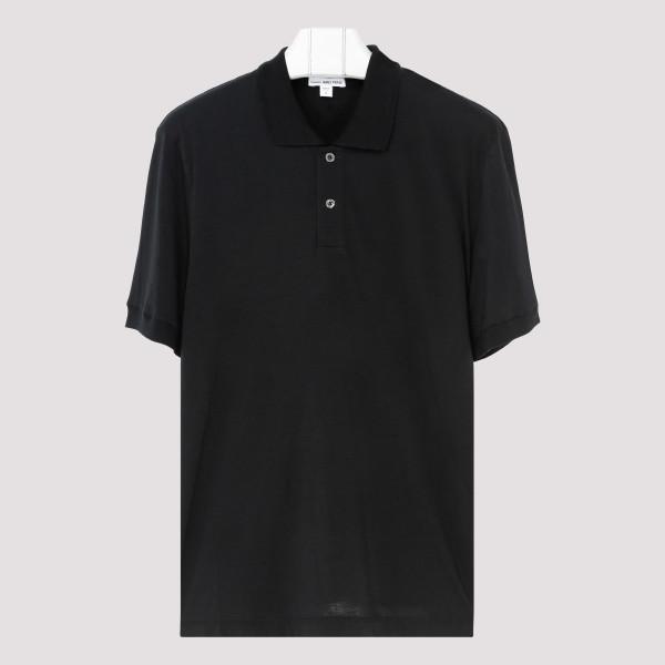 Black cotton-cashmere blend...
