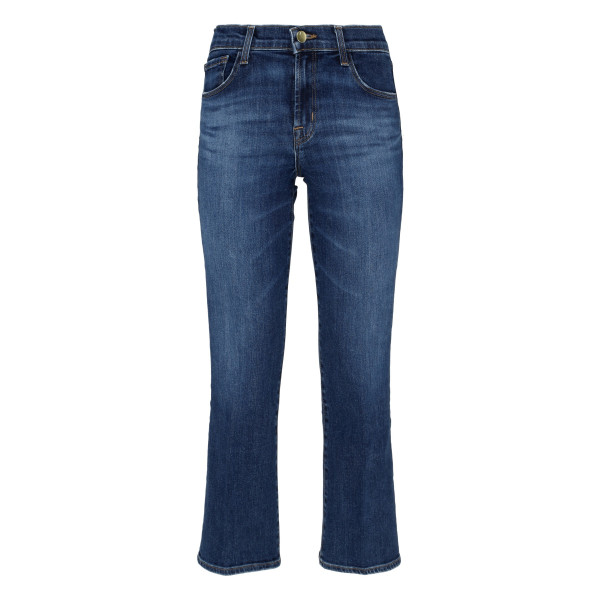 Selena mid-rise blue jeans