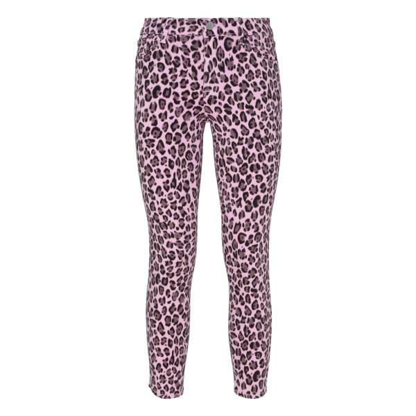 Framboise jaguar cropped skinny jeans
