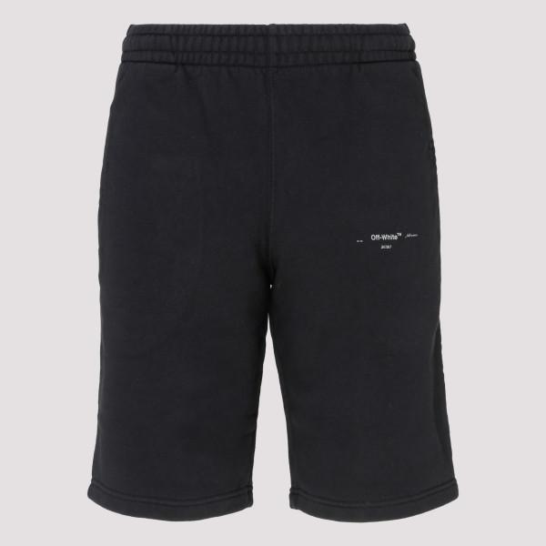 Black Unfinished sweatshorts