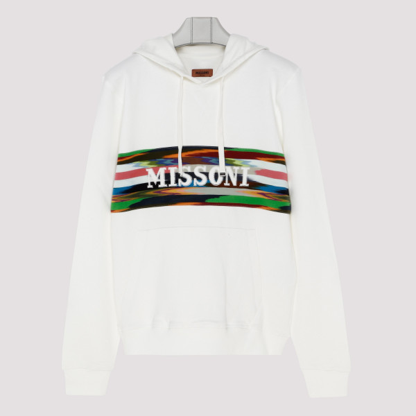 White hoodie with logo