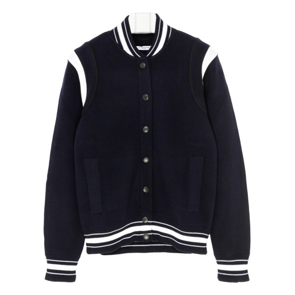 Wool bomber jacket with logo