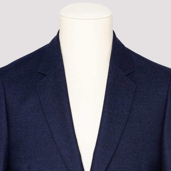 Blue wool slim fit blazer