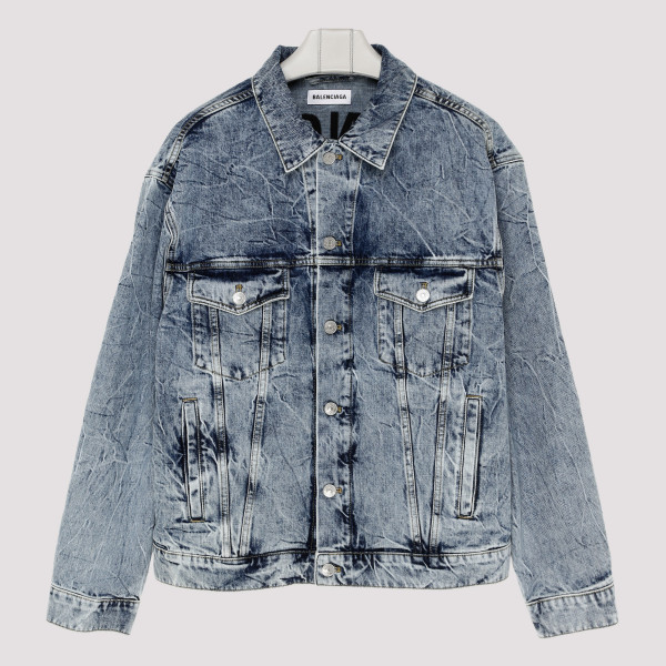 Washed Logo Denim Jacket