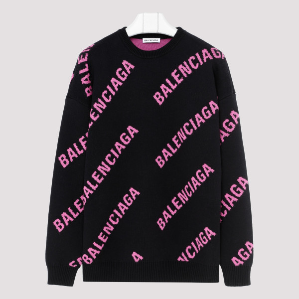 All Over Logo Print Sweater