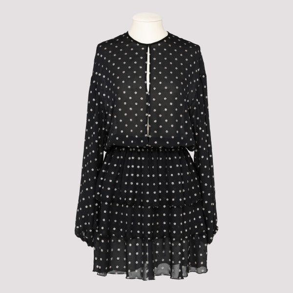 Polka dots mini dress with...