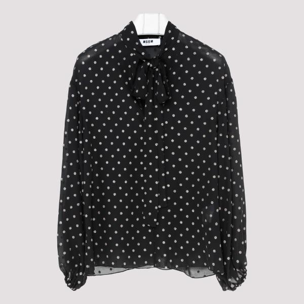 Polka dots printed blouse