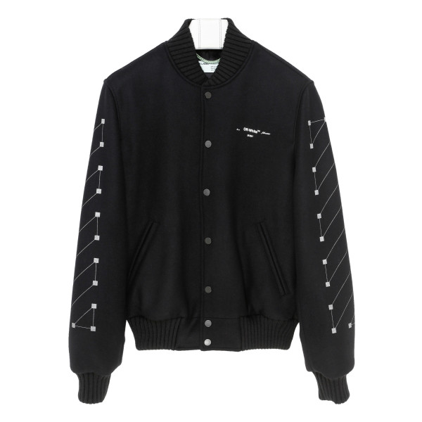 Embroidered skinny Varsity jacket