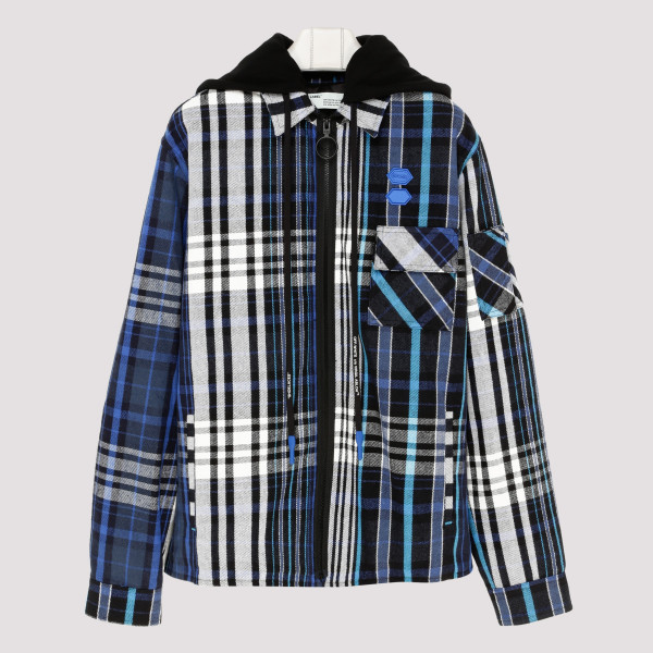 Padded flannel shirt jacket