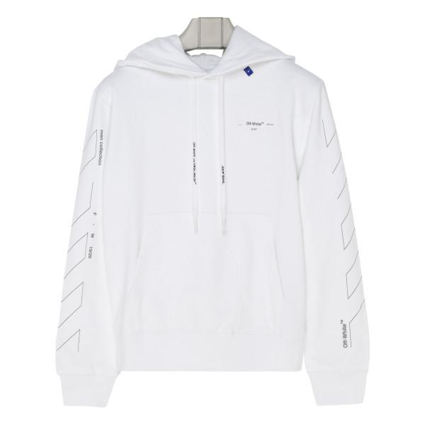 Diag unfinished slim hoodie
