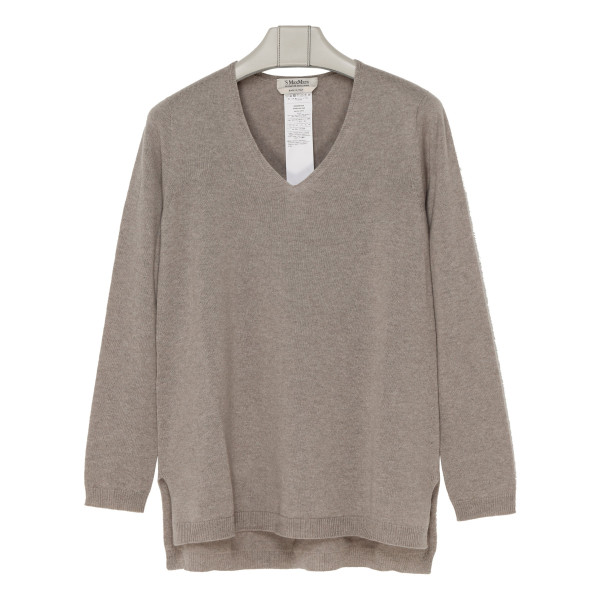 Gebe taupe cashmere sweater