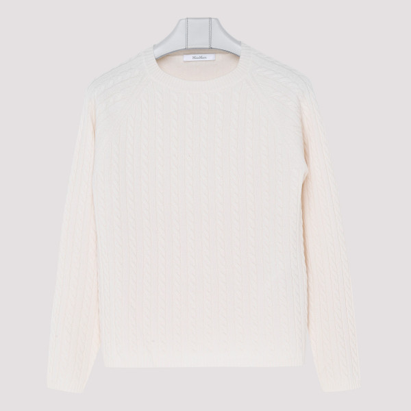 Fleur ivory cashmere sweater