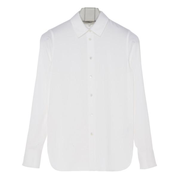 Off-white silk-blend blouse
