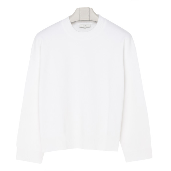 Off-white cotton-blend sweatshirt