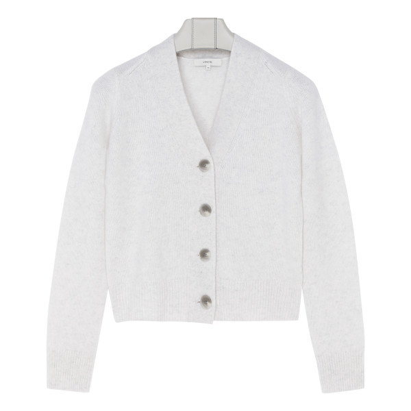 Off-white cashmere cardigan
