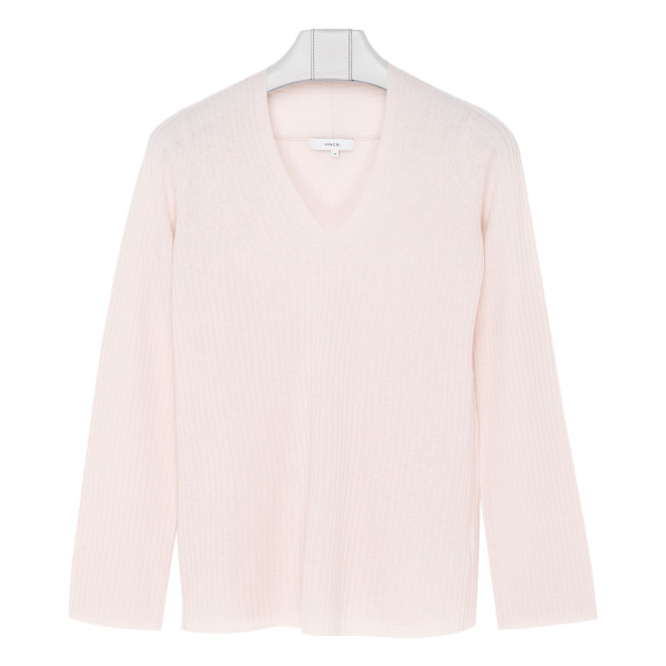 Light pink wool and cashmere blend sweater
