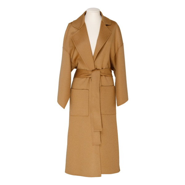 Camel wool and cashmere coat