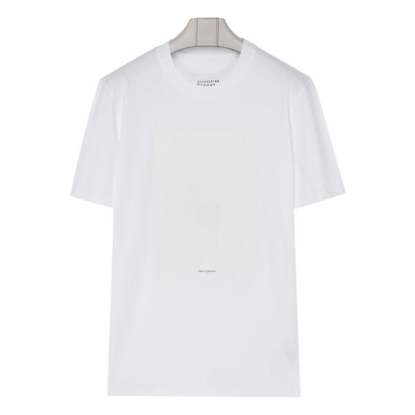 White self-draw T-shirt