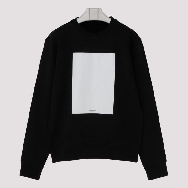 Black self-draw sweatshirt
