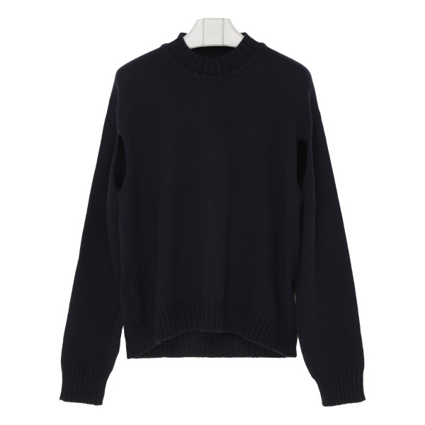 Navy wool and cashmere blend sweater