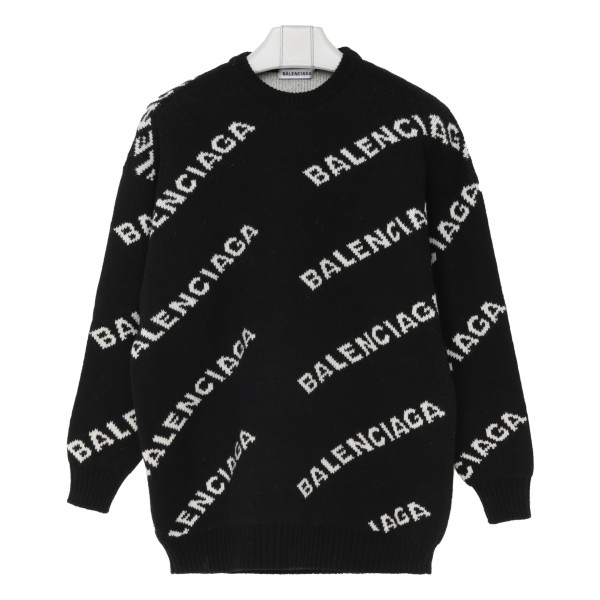 Black and white logo sweater