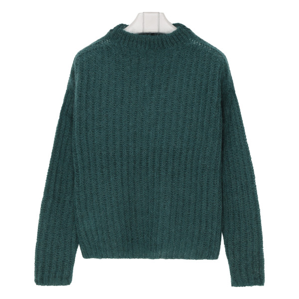 Emerald green mohair sweater