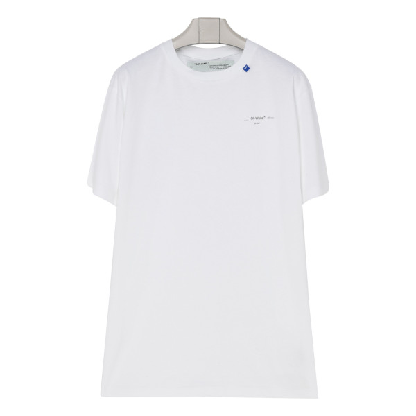 White cotton Unfinished T-shirt