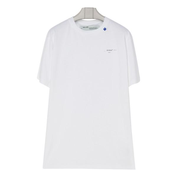 White cotton Unfinished T-shirt