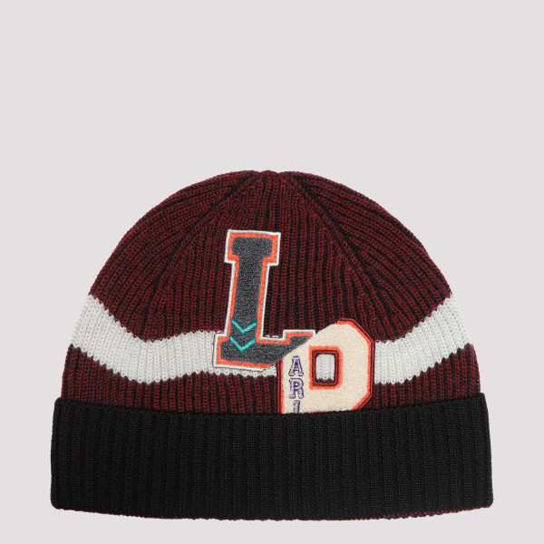 Black and burgundy cap with...