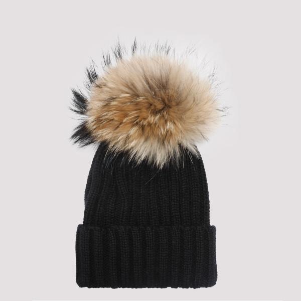 Black wool beanie