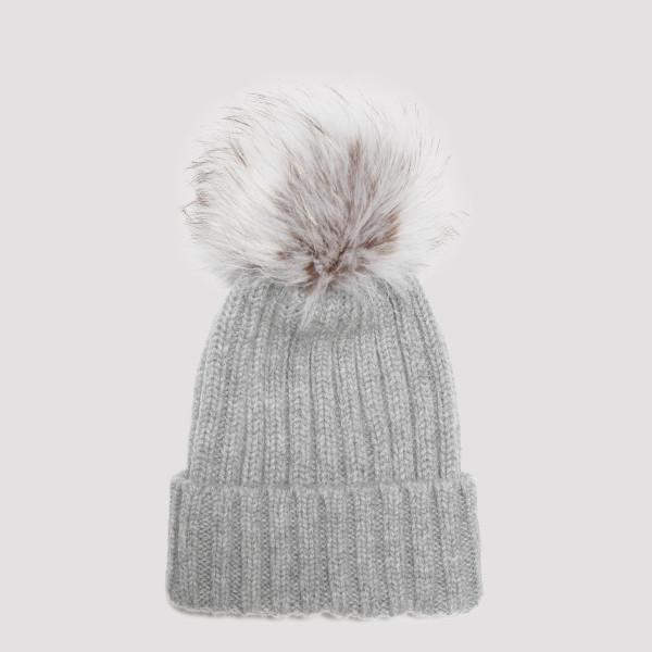 Gray wool beanie