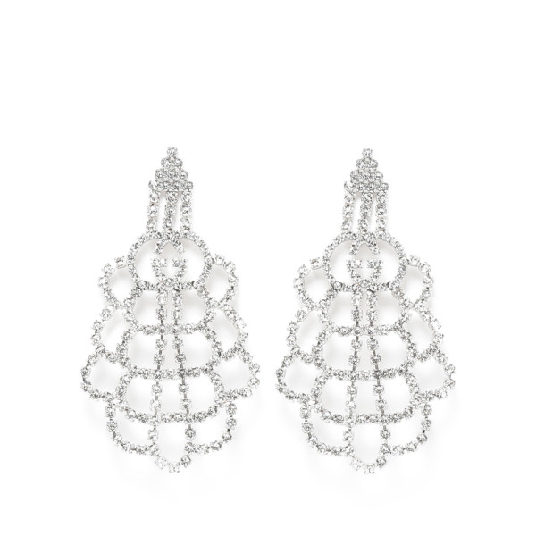 Crystal interlocking G earrings