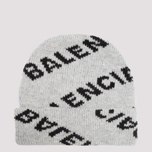 White wool-blend beanie