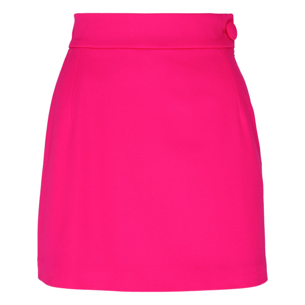 Shocking pink high-waist mini skirt