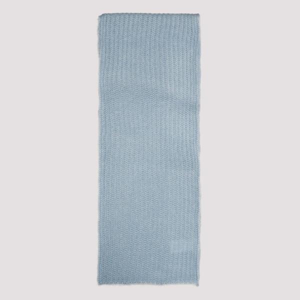 Pale blue mohair-wool blend...