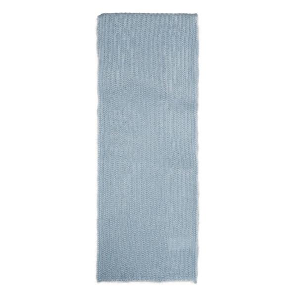 Pale blue mohair-wool blend scarf
