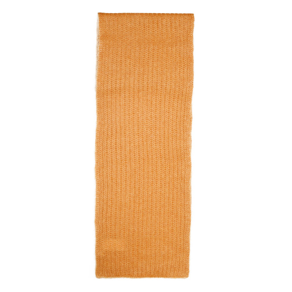 Orange mohair-wool blend scarf