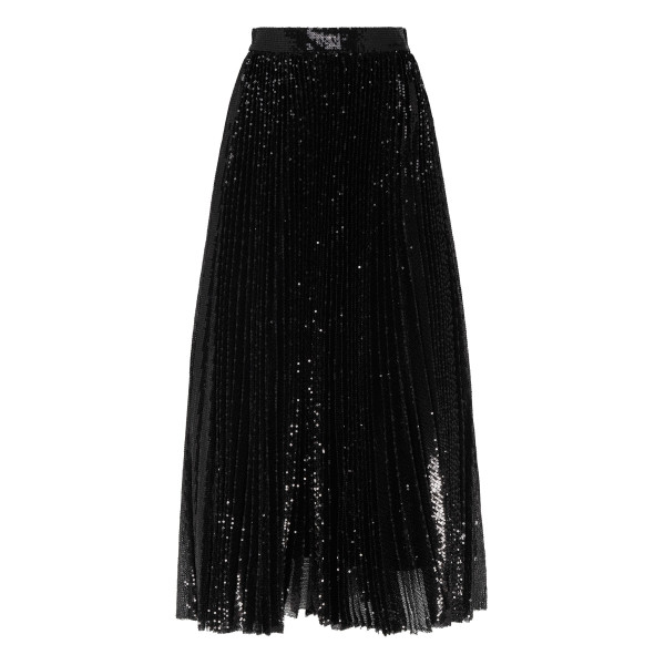 Black pleated skirt with sequins