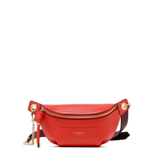 Red leather bum bag
