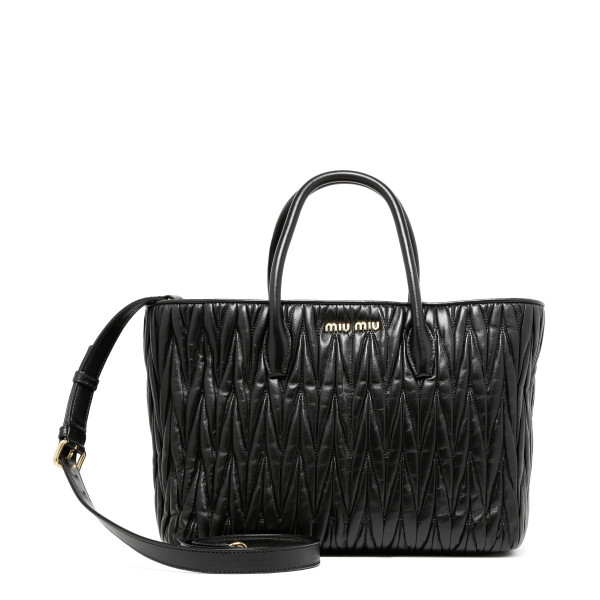 Black matelassè bag