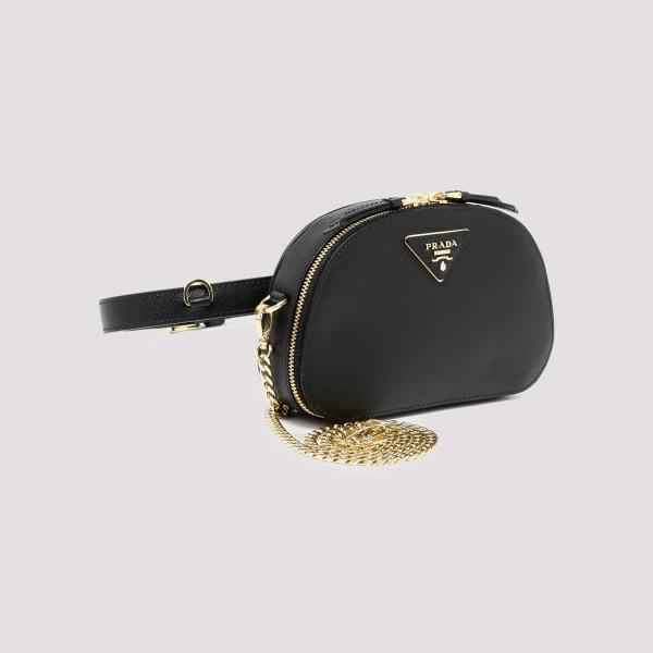 1b20afd41 Black Odette Saffiano leather belt bag