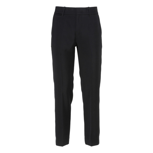 Black Flat Front Crop pants