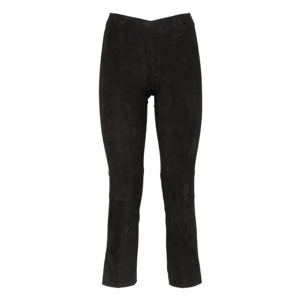 Black cropped skinny pants