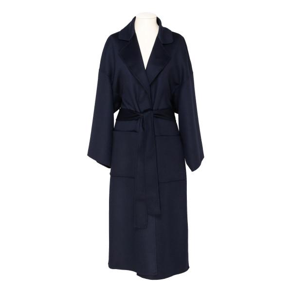 Navy Oversize Belted Coat