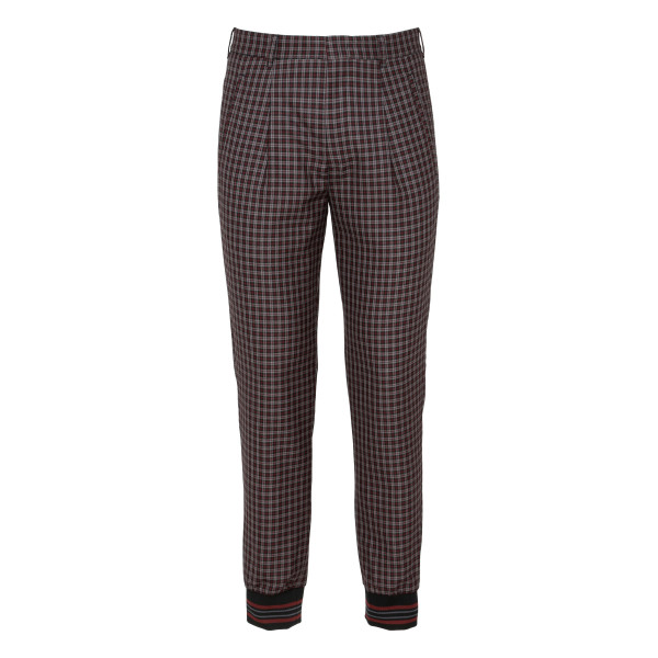Checkered slim fit pants