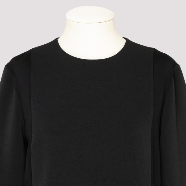 Black spliced dress