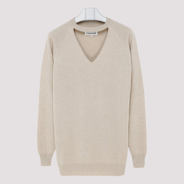 Beige cashmere oversized sweater