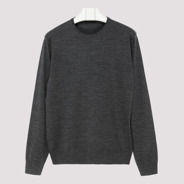 Gray virgin wool sweater